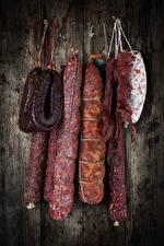 Обои Мясные продукты Колбаса Пища
