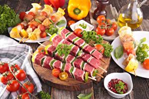 Картинки Мясные продукты Шашлык Овощи Помидоры