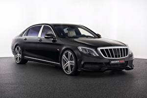 Обои Mercedes-Benz Брабус Черный X222 S-Class Машины