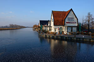 Фотографии Нидерланды Дома Реки Кафе Oudendijk