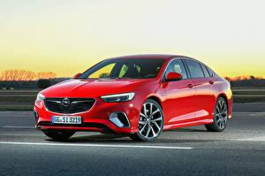 Фотографии Opel Красный Металлик 2017-18 Insignia GSi Автомобили