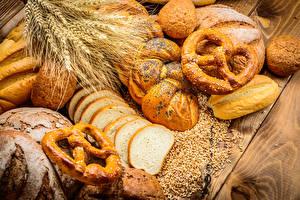 Картинка Выпечка Хлеб Булочки Колосок Продукты питания