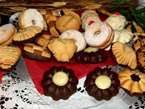 Картинка Выпечка Печенье Шоколад Дизайн
