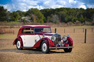 Картинки Винтаж Бентли Металлик 1939 4 ¼ Litre Coupe by Park Ward Автомобили