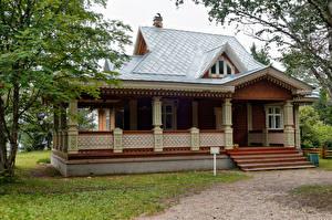 Обои Россия Здания Дизайн Деревянный Mandrogi Leningrad Oblast Города