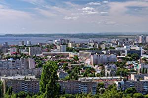 Картинки Россия Дома Saratov Города