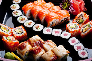 Картинки Морепродукты Суси Рыба Пища