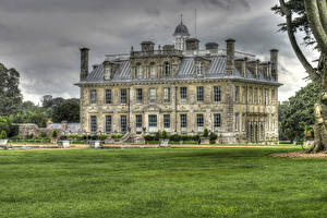 Фотография Великобритания Здания Газон Kingston Lacy House Dorset