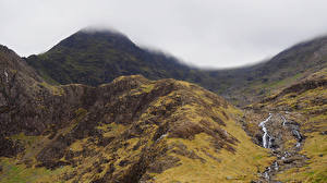 Картинка Великобритания Парк Горы Мох Уэльс Snowdonia National Park Природа