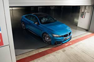 Обои BMW Голубой Купе F82 Автомобили