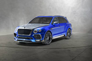 Обои Бентли Синий 2018 Mansory Bentayga  Bleurion Edition Авто