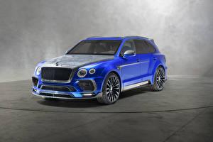 Обои Bentley Синяя 2018 Mansory Bentayga  Bleurion Edition