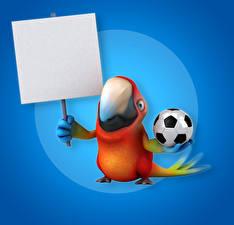 Обои Птицы Попугаи Цветной фон Шаблон поздравительной открытки Клюв Мяч 3D Графика