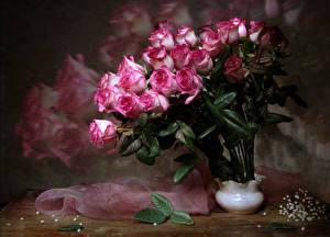 Картинка Букеты Розы Ваза