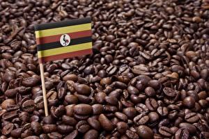 Картинка Кофе Зерна Флаг Еда