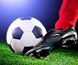 Обои Футбол Мяч Ноги Кроссовки