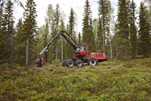 Обои Леса Ель 2009-10 Valmet 901TX Harvester