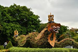 Картинка Индонезия Парки Змеи Дизайна Bali Природа