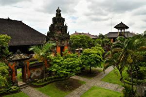 Фотографии Индонезия Храмы Дизайн Деревья Bali Города
