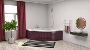 Обои Интерьер Дизайн Ванная