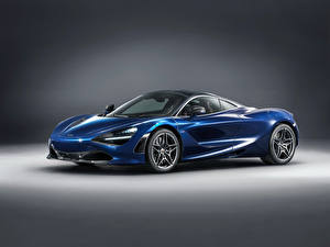 Фотографии McLaren Синий 2018 MSO 720S  Atlantic Blue Авто