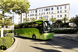 Картинки Мерседес бенц Автобус Салатовый 2017 Tourismo M-2 RHD