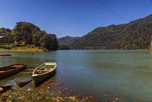 Картинки Мексика Берег Лодки Речка Huauchinango Природа