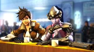 Фото Overwatch tracer, Widowmaker, Lena Oxton 3D_Графика Девушки