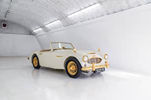 Обои Ретро Кабриолета Белая Металлик 1958 Austin Healey 100-6 Goldie Автомобили