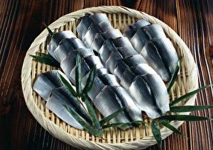 Фотографии Морепродукты Рыба Тарелка Пища