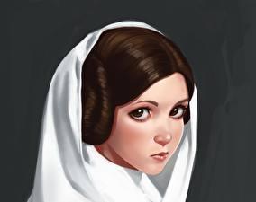 Картинка Звездные войны Смотрит Fan ART by ivantalavera, Leia Фантастика Девушки