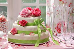 Обои Сладкая еда Торты Розы Дизайн Еда