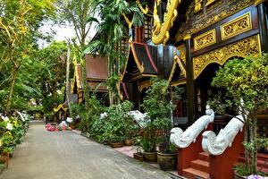 Картинка Таиланд Здания Улица Дизайн Chiang Rai Города