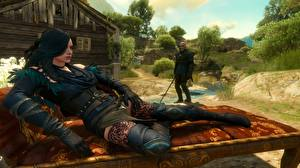 Обои The Witcher 3: Wild Hunt Yennefer, Geralt of Rivia Девушки 3D_Графика