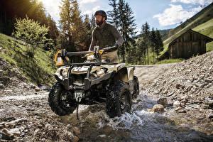 Фотографии ATV Мужчины Ручей 2018 Yamaha Kodiak 450 EPS