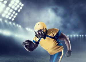 Фото Американский футбол Мужчины Шлем Мяч Спорт