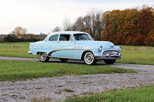 Картинка Buick Ретро Голубых Металлик 1953 Special Tourback Sedanet машина