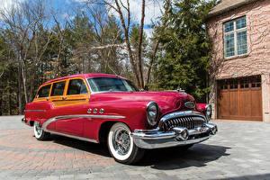 Фото Buick Старинные Красный Металлик 1953 Super Estate Wagon автомобиль