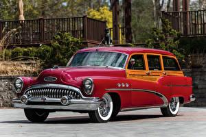 Фотографии Buick Винтаж Красная Металлик 1953 Super Estate Wagon машина