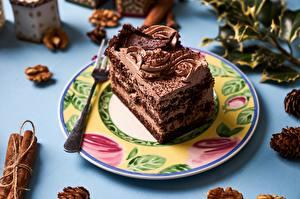 Обои Торты Шоколад Кусок Тарелке Еда