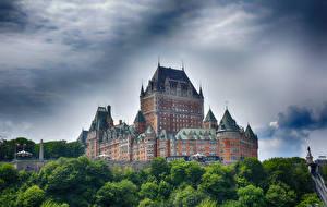 Обои Канада Замки Chateau Frontenac Quebec Города картинки