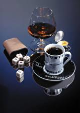 Картинки Кофе Алкогольные напитки Чашка Бокалы Пища
