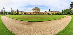 Фотография Англия Дворец Газон Ickworth House Города
