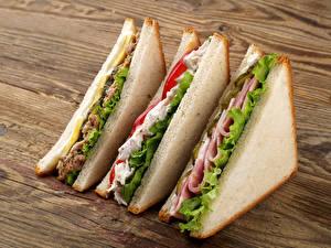 Фотографии Быстрое питание Сэндвич Хлеб Продукты питания