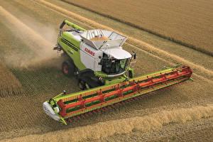 Картинки Поля Сельскохозяйственная техника 2012-17 Claas Lexion 780