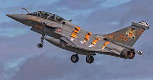 Картинки Самолеты Истребители Французский French Air Force Dassault Rafale B 324-4