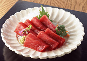 Картинки Рыба Тарелка Пища