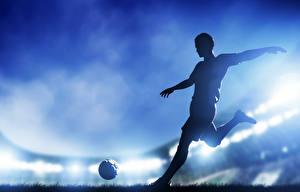 Обои Футбол Мужчины Мяч Спорт картинки