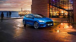 Обои Форд Синий 2018 Focus ST Line авто