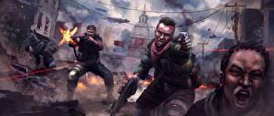 Фотографии Homefront Воины Мужчины The Revolution Игры